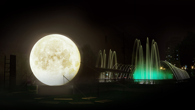 Panorama en Santiago: ¡La Luna bajó a nuestro planeta!