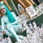 1.000 conejos se toman el paseo Bandera y exigen que el testeo en animales en el país sea prohibido