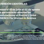 Se abren las postulaciones al Premio L´Oréal Chile – UNESCO For Women in Science 2019