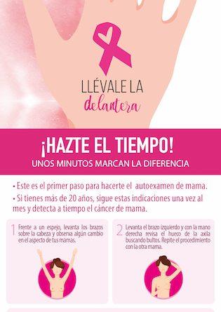 Llévale la delantera al cáncer de mama