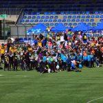 Más de 340 niños y niñas disfrutaron del Día Saludable en el Estadio Arturo Vidal de San Joaquín