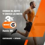 28 de junio: Gatorade desafía a corredores a una carrera de 3K en casa